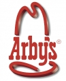red Arbys logo with drop shadow