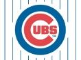 Pin striped Cubs Logo